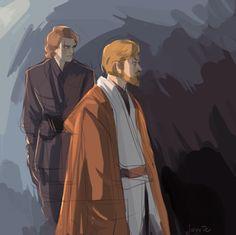 Anakin and Obi-Wan by javvie