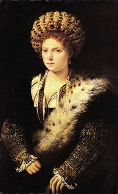 Tiziano Vercellio, Titian (1490 - 1576) - Portrait of Isabella d'Este  Discover the coolest shows in New York at www.artexperience...