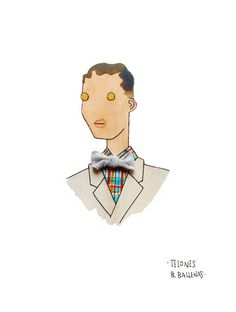 Stromae drawing by Telones & Ballenas
