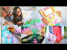 Back to School: DIY Organization! School Supplies & Room decor! - YouTube
