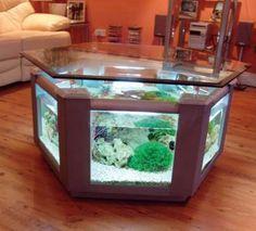 I want a fish tank table SO BAD.