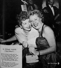Actress Vivian Vance was born today 7-26 in 1909. Many a Boomer kids grew up with her in the 50s as Ethel Mertz on I Love Lucy. Here she is with Lucy in 1955.