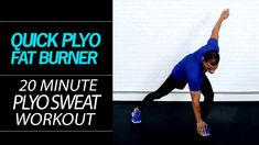 20 Min. Quick Plyo Body Fat Burning Sweat Fest Home HIIT Cardio Workout