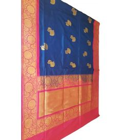 Blue Banarasi Handloom Kora Silk Saree------------------------------------------------------------Indian women are known for their beauty and elegance all over world and they look stunning  and truly gorgeous in Indian traditional sarees --------------------------------Sarees from Luxurionworld