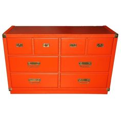 Add A Splash Of Color With This Mid Century Red Drexel Dresser