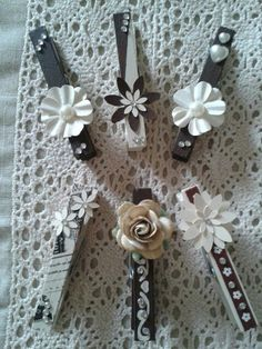 Beautiful pegs / clothes pins made by my sister!