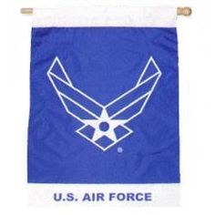U.s. Air Force Banner 28 IN. x 40 IN. by In The Breeze Llc.. $31.13. The image is single-sided and sewn with a combination of applique, embroidery and printing. 28 IN. x 40 IN.. Pole not included. Great idea for home, garden, or retail environments. Made with quality fade resistant polyester fabric. Made with quality fade resistant polyester fabric. The image is singlesided and sewn with a combination of applique, embroidery and printing. Great idea for home, garden, or retai...