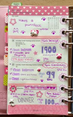 She's Eclectic: My week in my Filofax #22 - close up