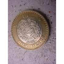 Antiga - Moeda Diez Pesos Estados Unidos Mexicanos Ano 1998