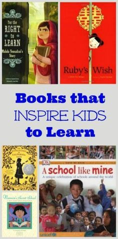Books that Inspire Kids to Learn and appreciate education -- picture books & chapter books for preschool, kindergarten, elementary and middle school - great ideas for back to school reads in the Fall! Kids Reading, Reading Activities, Teaching Reading, Reading Lists, Sequencing Activities, Reading Books, Family Activities, Fun Learning, Good Books