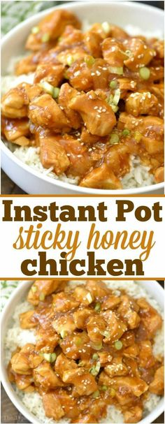 This spicy honey Instant Pot chicken takes just 4 minutes to cook, is moist and full of flavor! Sweet and spicy chicken bites smothered in delicious sauce. Garlic Chicken Recipes, Honey Garlic Chicken, Healthy Chicken Recipes, Sweet And Spicy Chicken, Spicy Honey, Instant Pot Dinner Recipes, Instant Recipes, Healthy Family Meals, Pressure Cooker Recipes