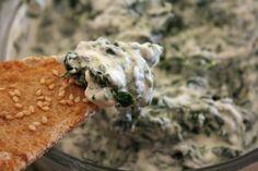 Healthy spinach dip made with greek yogurt