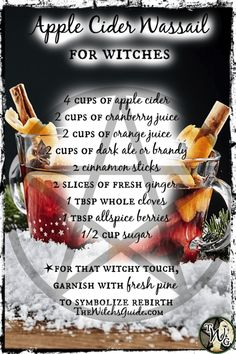 Apple Cider Wassail Recipe for Witches | Yule Sabbat, Winter Solstice | TheWitchsGuide.com