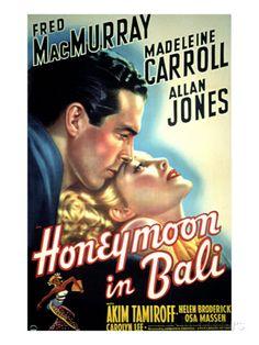 Honeymoon in Bali, Fred MacMurray, Madeleine Carroll, 1939 Poster bei AllPosters.de