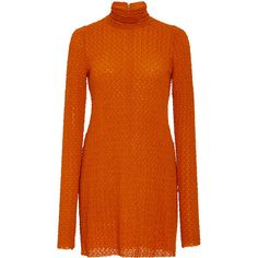 Kitx     Multiply Polo Turtleneck ($550) ❤ liked on Polyvore featuring tops, sweaters, dresses, orange, orange knit sweater, polo sweater, polo knit sweater, knit top and turtle neck sweater
