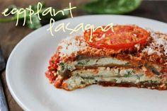 Eggplant Lasagna with Ricotta and Cashew Cheese | Luminous Vegans