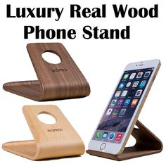 Universal Wodden Mobile Phone Desktop Stand Holder iPhone 6s/6 plus Samsung Sony