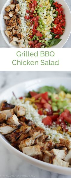 Grilled BBQ Chicken Salad, the perfect weeknight dinner that's healthy, easy and…