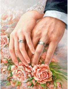 This is such a beautiful diamond painting kit. Take this diamond painting home today and when you're done you can hang it anywhere in the house. It's a great gift idea too. Wedding Vows, Wedding Cards, Wedding Hair, Wedding Events, Wedding Rings, 5d Diamond Painting, Wedding Images, Vintage Images, Photo Gifts
