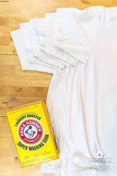 Have you ever wondered how to remove yellow sweat stains from your shirts? Here is a quick and easy way to get rid of those ugly stains plus a genius tip on how to keep them away for good! Deep Cleaning Tips, House Cleaning Tips, Cleaning Solutions, Spring Cleaning, Cleaning Hacks, Cleaning Products, Cleaning Supplies, Sweat Stains, Remove Stains