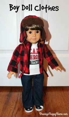 Find out where you can buy good quality boy doll clothes at reasonable prices for your American Boy, My Life, and Boy Story dolls, and other 18 inch dolls. Og Dolls, Girl Dolls, American Boy Doll, 18 Inch Boy Doll, Boy Doll Clothes, Doll Crafts, Doll Stuff, Diy Dollhouse, Doll Patterns