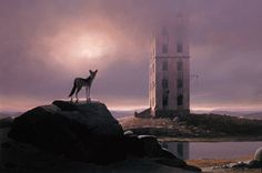 Tower of Silence - Keith Alexander Tower Of Silence, South African Artists, Paintings I Love, Surrealism, Canvas, Board, Photography, Inspiration, Image