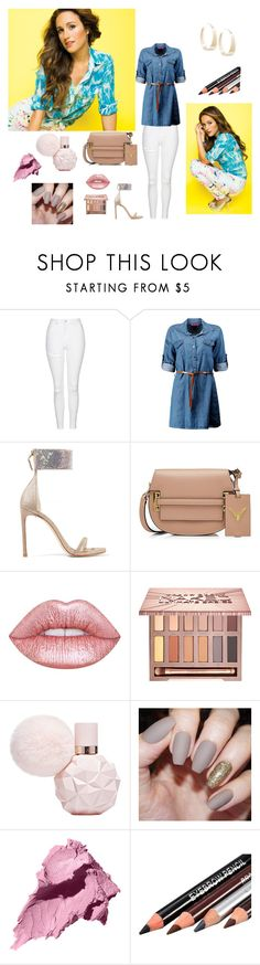 """Britt Nicole: her style"" by amberlyng ❤ liked on Polyvore featuring Topshop, Boohoo, Stuart Weitzman, Valentino, Lime Crime, Urban Decay, Bobbi Brown Cosmetics and Lana"