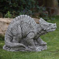 small Triceratops garden statue Dinosaurs Pinterest Garden