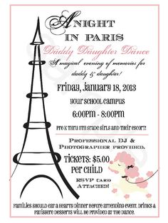 A Night in Paris Customized Party by ateasypeasydesigns on Etsy, $40.00