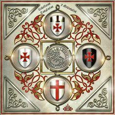 """Strength and Honour! Knights Templar Symbols, Knights Hospitaller, Crusader Knight, Christian Warrior, Christian Images, Knight Art, Medieval Knight, Freemasonry, Chivalry"