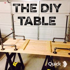 Black Iron Pipe Table - not joinery, but infinite possible framing configs