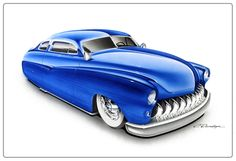 Automotive Artwork by Pinstripe Chris - Store Monster Stickers, Monster Car, Sharpie Art, Lead Sled, Car Illustration, Mode Of Transport, Car Sketch, Car Painting, Car Show