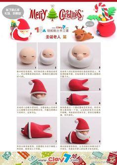 Cake decorating: Cute Santa