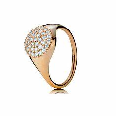 Diamond Pave Ring Rose Gold