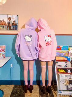 Hello Kitty X Chuu Lovely Hoodie - I know you wanna kiss me. Thank you for visiting CHUU. Hello Kitty House, Hello Kitty Items, Hello Kitty Outfit, Harajuku Fashion, Kawaii Fashion, Hello Kitty Crochet, Hello Sanrio, Little Girl Models, Cool Outfits
