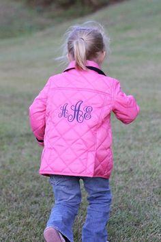 Preppy Monogramed MagnaMini Barn Jacket- magnetic closures on kids jackets and vests!