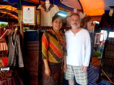 Home-stay with us in amazing Thailand and discover the beautiful Isaan region. See and learn how beautiful hand made garments are woven in the traditional way by renowned, award winning textile weaver and local philosopher Thongbai Bunnaen - or 'Khru Mok' (teacher Mok) who converted her house in Ban Non Sawang (7kms from our home) into a community learning centre to teach traditional ways of hand weaving mud-soaked textiles - a process she herself developed.