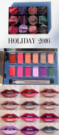 This gorgeous Urban Decay Junkie Vice Lipstick Palette for Holiday 2016 is perfect for any mood and occasion! for only $35...you can have 12 stunning lipstick shades.