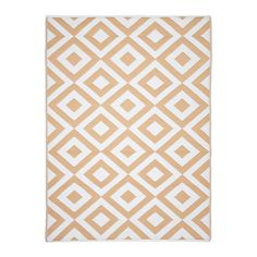 Tan Geometric Outdoor Area Rug, 6x9 | Kirklands Kirkland Store, Lady Lake, Temporary Store, Port Orange, Holly Springs, Tans, Outdoor Area Rugs, Diamond Pattern, Classic Style