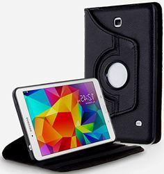 "Night Sky Black {Executive Urban Carrier} 360 Degree Rotating Stand Case for Samsung Galaxy Tab 4 10.1"" Inch Tablet (High Quality Koskin Vegan Faux PU Leather Cover + Slim Folding Lightweight Design) myLife Brand Products http://www.amazon.com/dp/B00QMQJL6U/ref=cm_sw_r_pi_dp_kSJHub1GYXZNV"