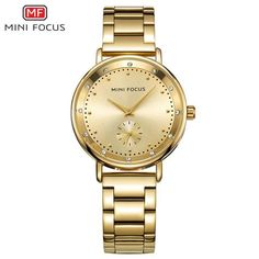 9c30be39652 Luxury brand ladies watches gold casual waterproof outdoor quartz stainless  steel strap watch Ladies Watches