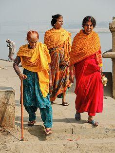 Varanasi . The trio. India