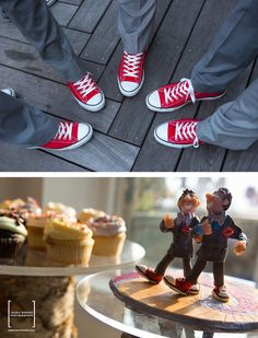 Same-sex wedding cake topper... If you look closely you can see them following the yellow brick road :) | http://www.facebook.com/pages/Laurie-Rhodes-Photography/139372092741156