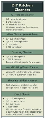 DIY Kitchen Cleaning Recipes - All Natural