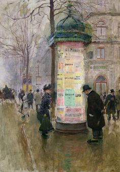 The Colonne Morris by Jean Beraud