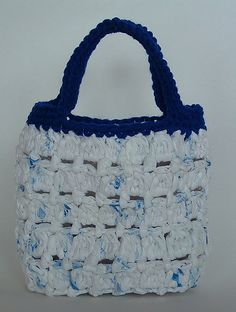Cluster Stitch Recycled Bag by RecycleCindy #crochet #patterns