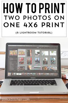 Learn how to use Adobe Lightroom to print two photos on one 4x6 photo. How to print two photos on 4x6 photo for use with Project Life pages