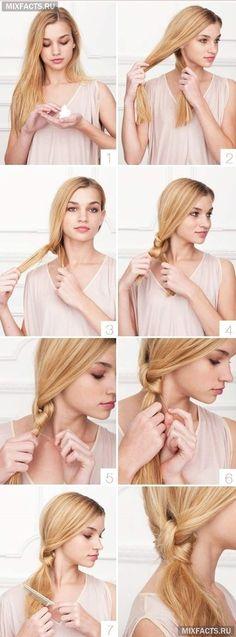 как сделать красивую прическу самой на длинных волосах?