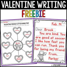 Valentine Writing Freebie Optional Bubble Map to write down adjectives to describe the person you are writing a friendly letter to. 9 Friendly Letter Templates to choose from. Friendly Letter, Letter Templates, Valentines, Map, Lettering, Writing, Create, Funny, Valentine's Day Diy