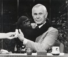 Johnny always played it for laughs when it came to having animals on his show. Here's Johnny, Johnny Carson, Tonight Show, Funny People, My Idol, Over The Years, I Laughed, Laughter, Nostalgia